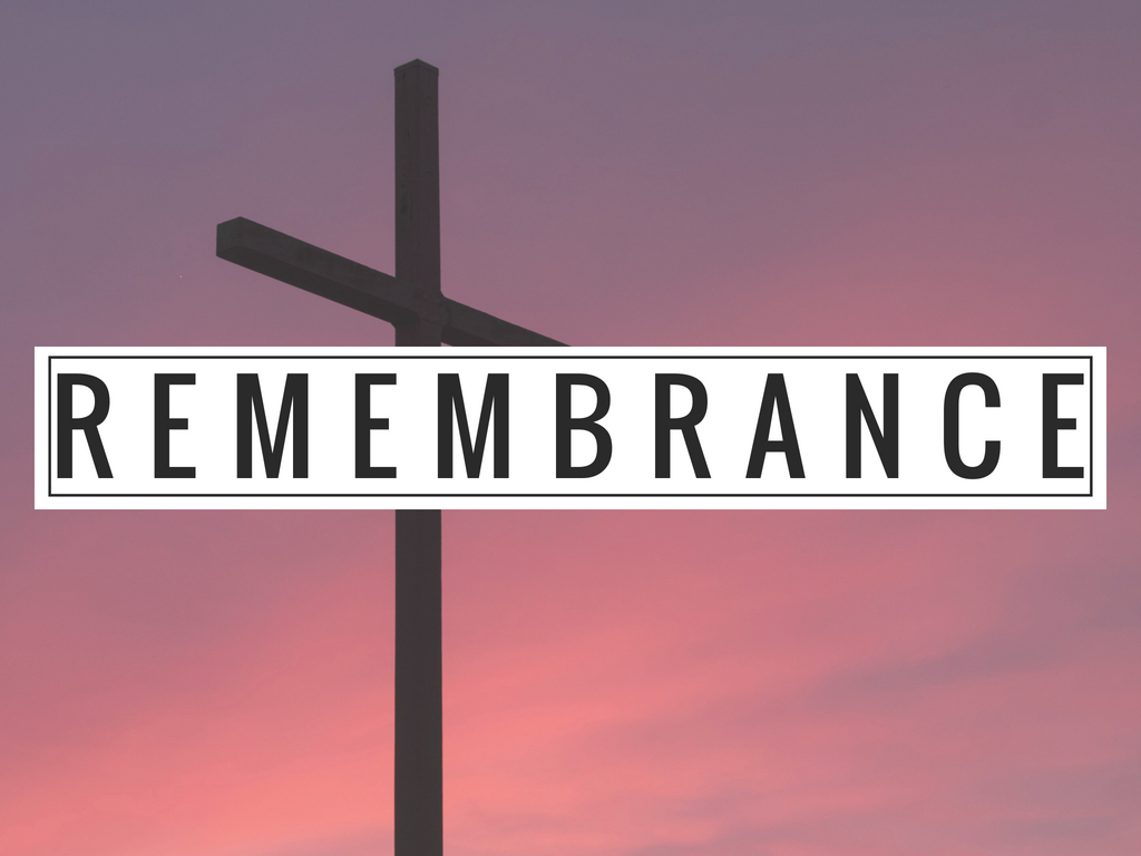 Memorializing the death and resurrection through the Lord's Table