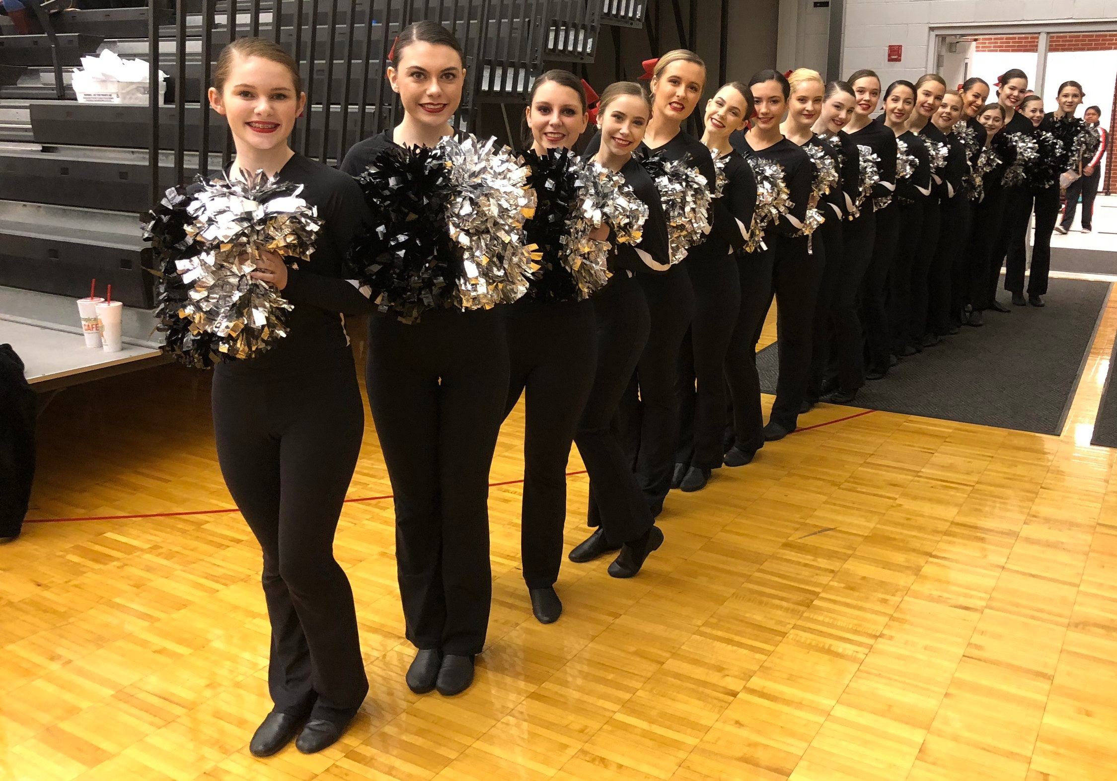 On Thursday, December 13th the Lutheran Westland Poms had their first ever performance!