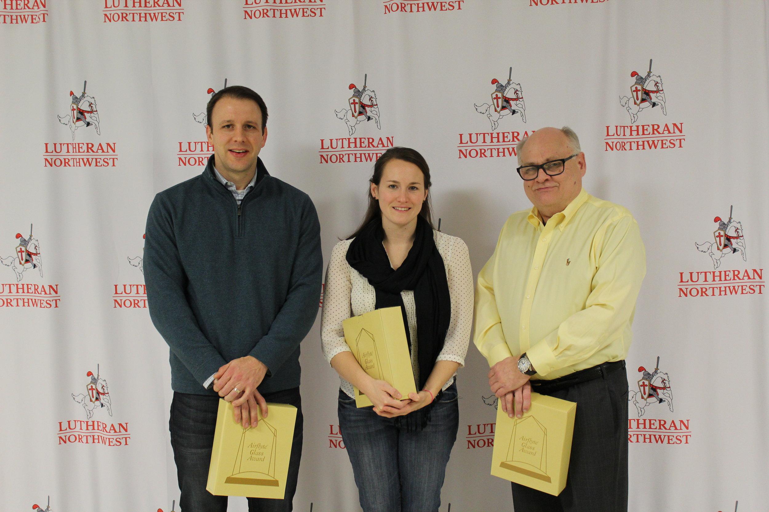 L to R: Dan Chewning, Meghan Katner Sternemann, Bob Katner