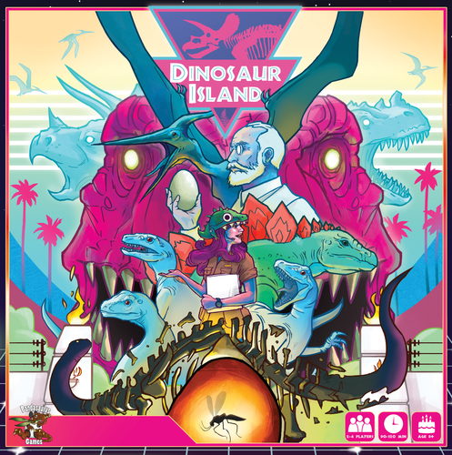 2) Dinosaur Island - Worker placement game where you develop a theme park with dinosaurs. Jurassic Park in a box!Current BGG Rating: 8.2