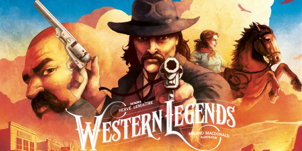 1) Western Legends - This game was a sight for sore eyes. There is a severe shortage of thematic western games in the board game market. Of course, people will make games with themes they enjoy, but I can't help but feel that theme choices typically are tied more to the fad than to fashion. The difference is that while the initial creators made something new and exciting, the market is then flooded with people trying to cash in on the new pop zeitgeist. That isn't to say the later creations can't be good or even better... but after a time it feels a little stale. So I am thankful Kolossal Games is stepping out of what is
