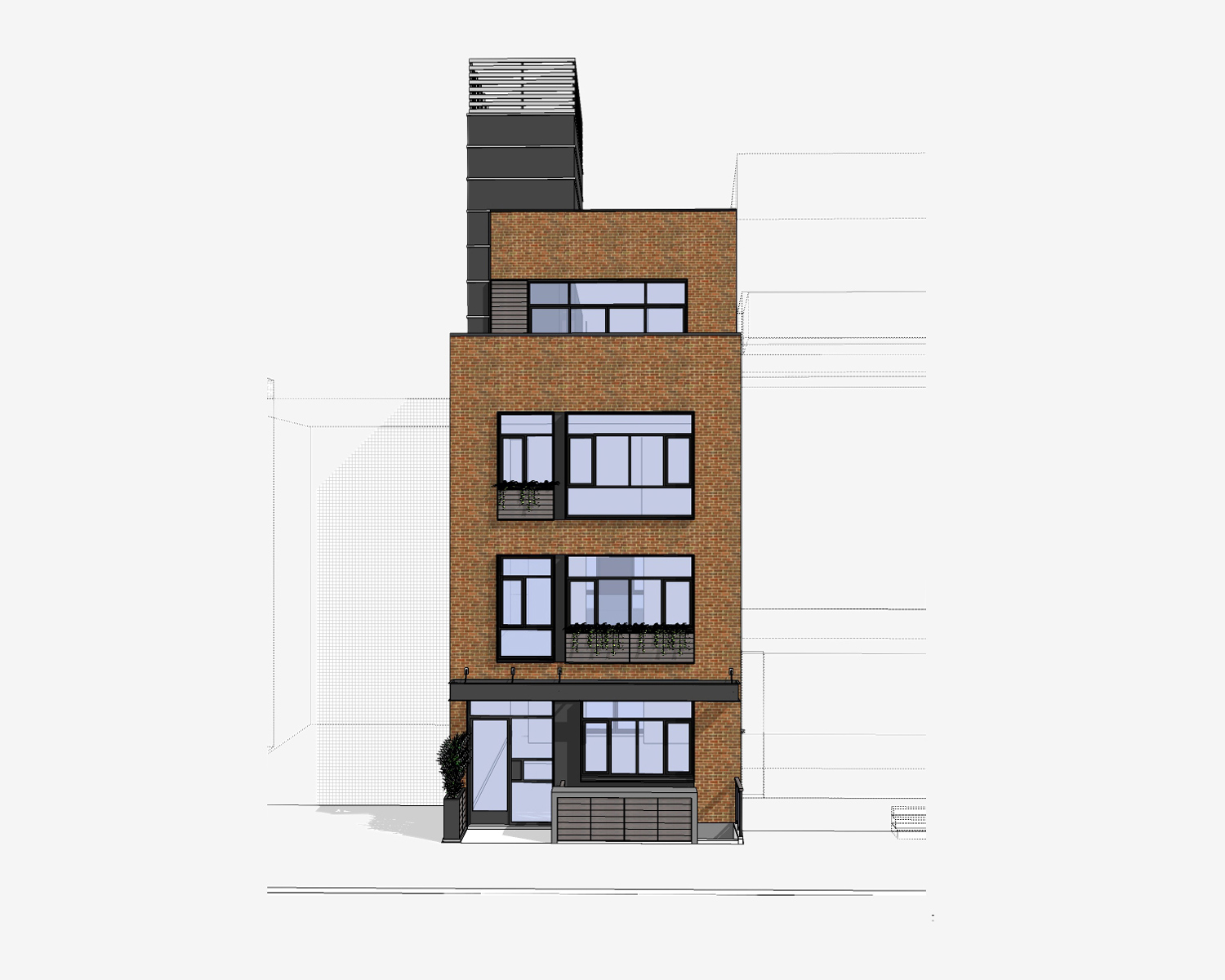 Clinton Hill Residential Building - Street Elevation