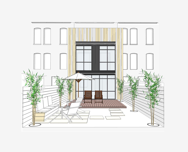 Brooklyn Park Slope Brownstone Renovation - Elevation