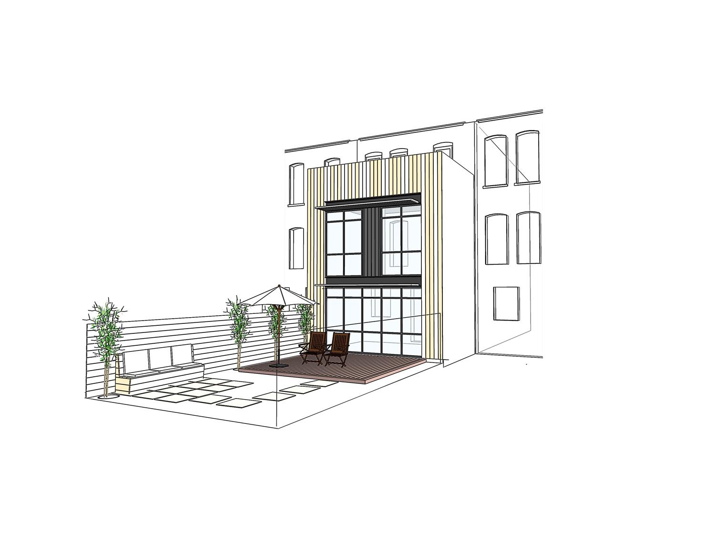 Brooklyn Park Slope Brownstone Renovation - 3D View