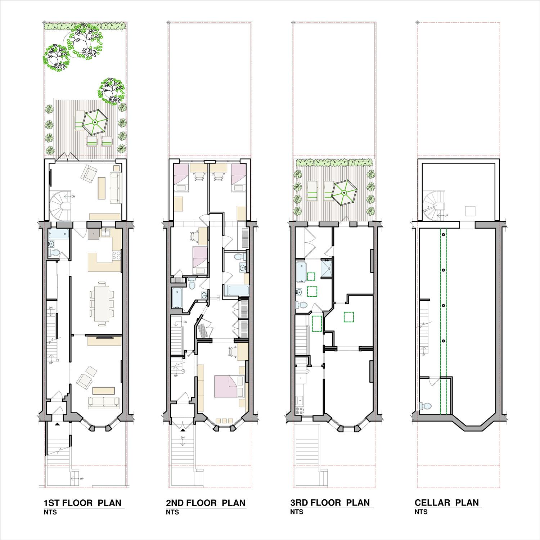 Brooklyn Park Slope Brownstone Renovation - Building Plans
