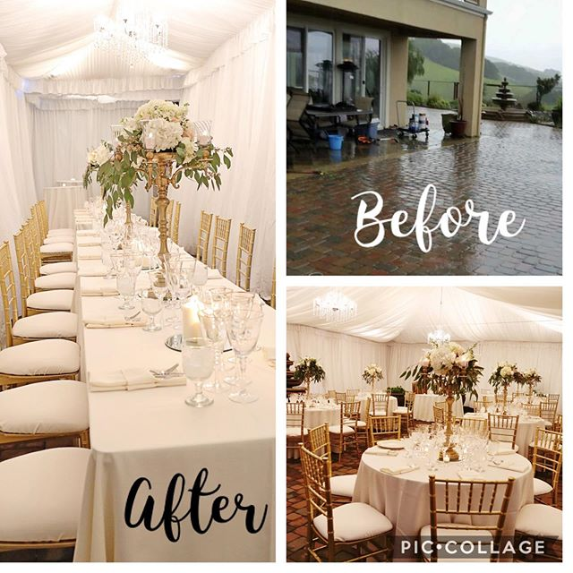 I was contacted just three short weeks before this wedding was scheduled to take place. Rain was in the forecast ☔️ and the reception was going to be in the backyard of the client's home in San Ramon. With the help of @stuarteventrentals we transformed this cold and rainy backyard into an elegant, cozy reception venue #allora #alloraeventdesigns #wedding #reception #thisishowwedoit #sanramon #lovewhatido #weddingplanner 📸'a by @photosbykruss