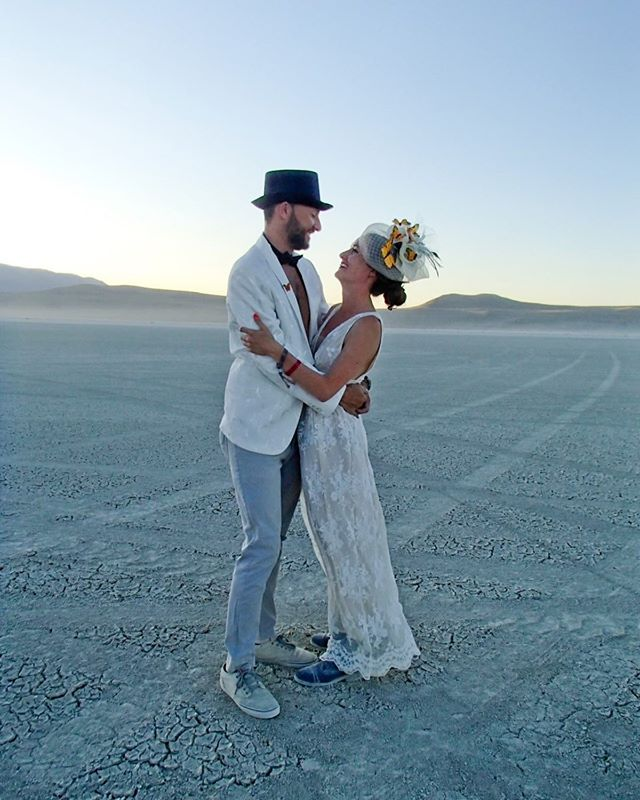 From a Burning Man wedding to the real thing...the countdown begins! LOVE these two! ❤️ #allora #alloraeventdesigns #burningman #wedding #oneyear #countdown #burningmanwedding #burningman2019 #lovewhatido #weddingplanner