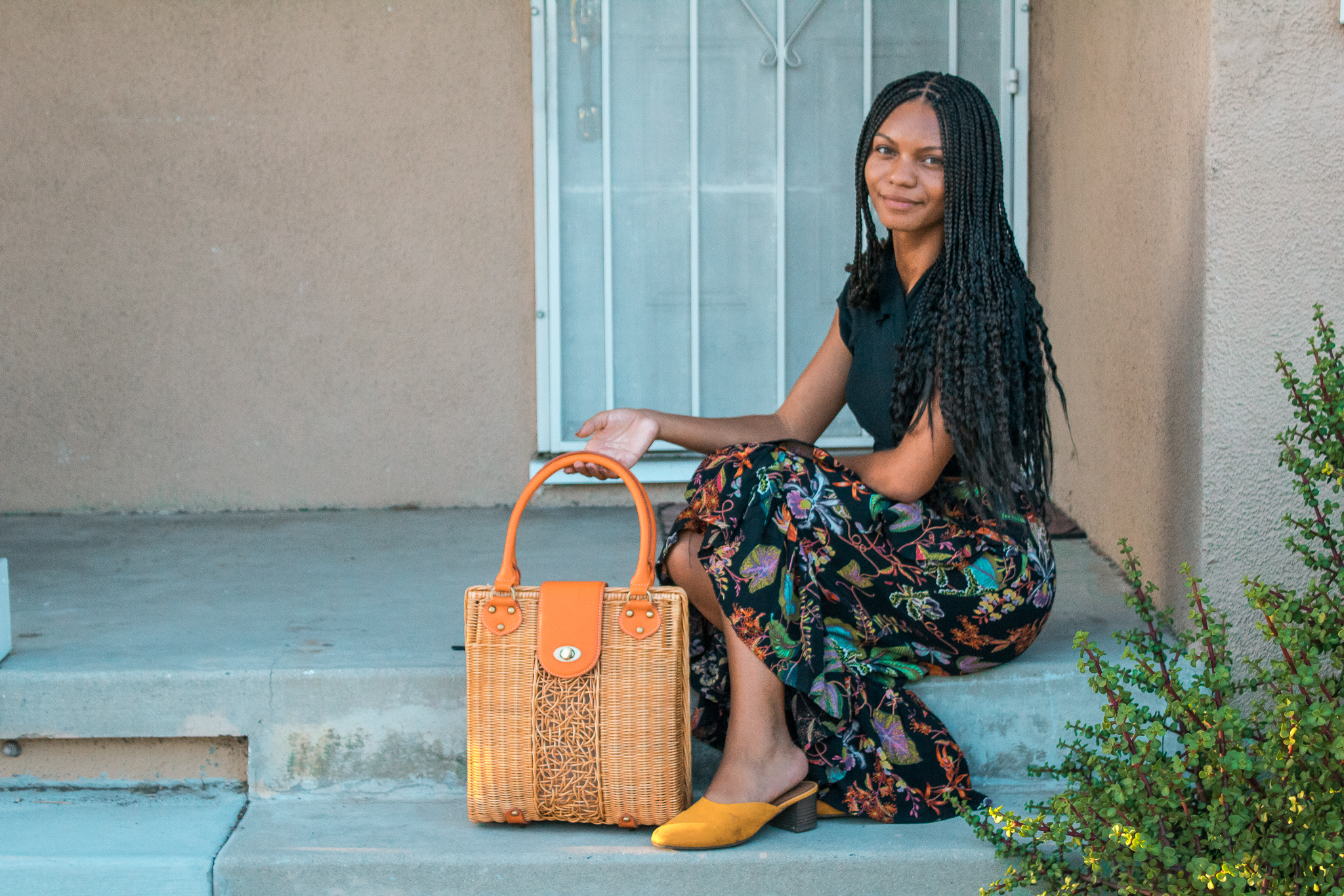 I love my  Juniper Rattan Handbag  because it has a lot of room and the color fits perfectly with my wardrobe. It's made from sustainably sourced and eco-friendly rattan.