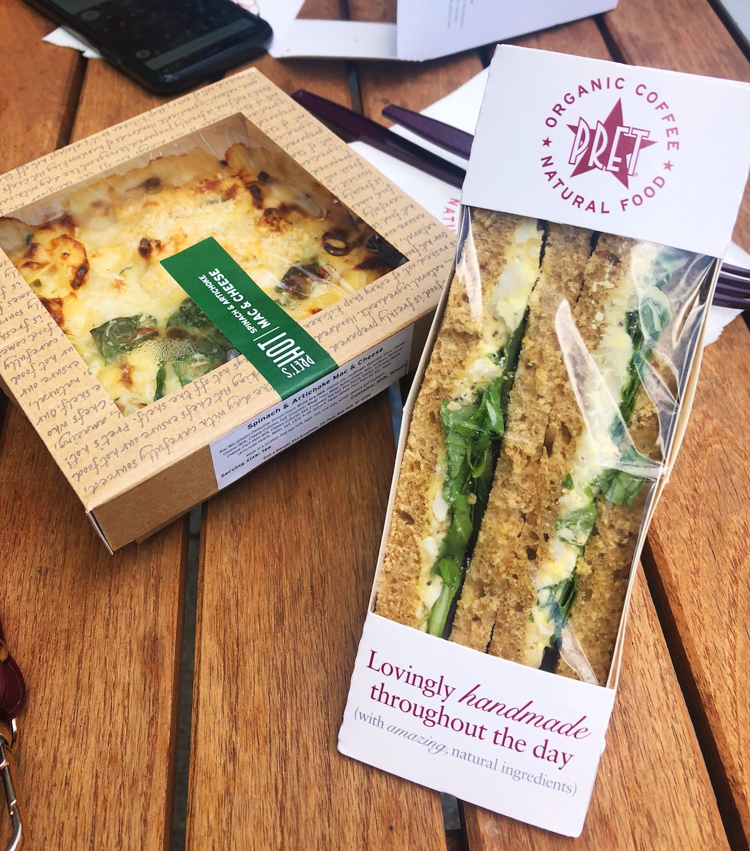 Tasty goodies from Pret