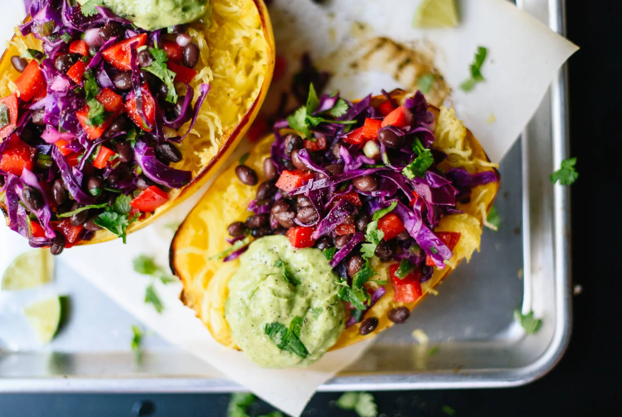 Source:    https://cookieandkate.com/2015/spaghetti-squash-burrito-bowl-recipe/