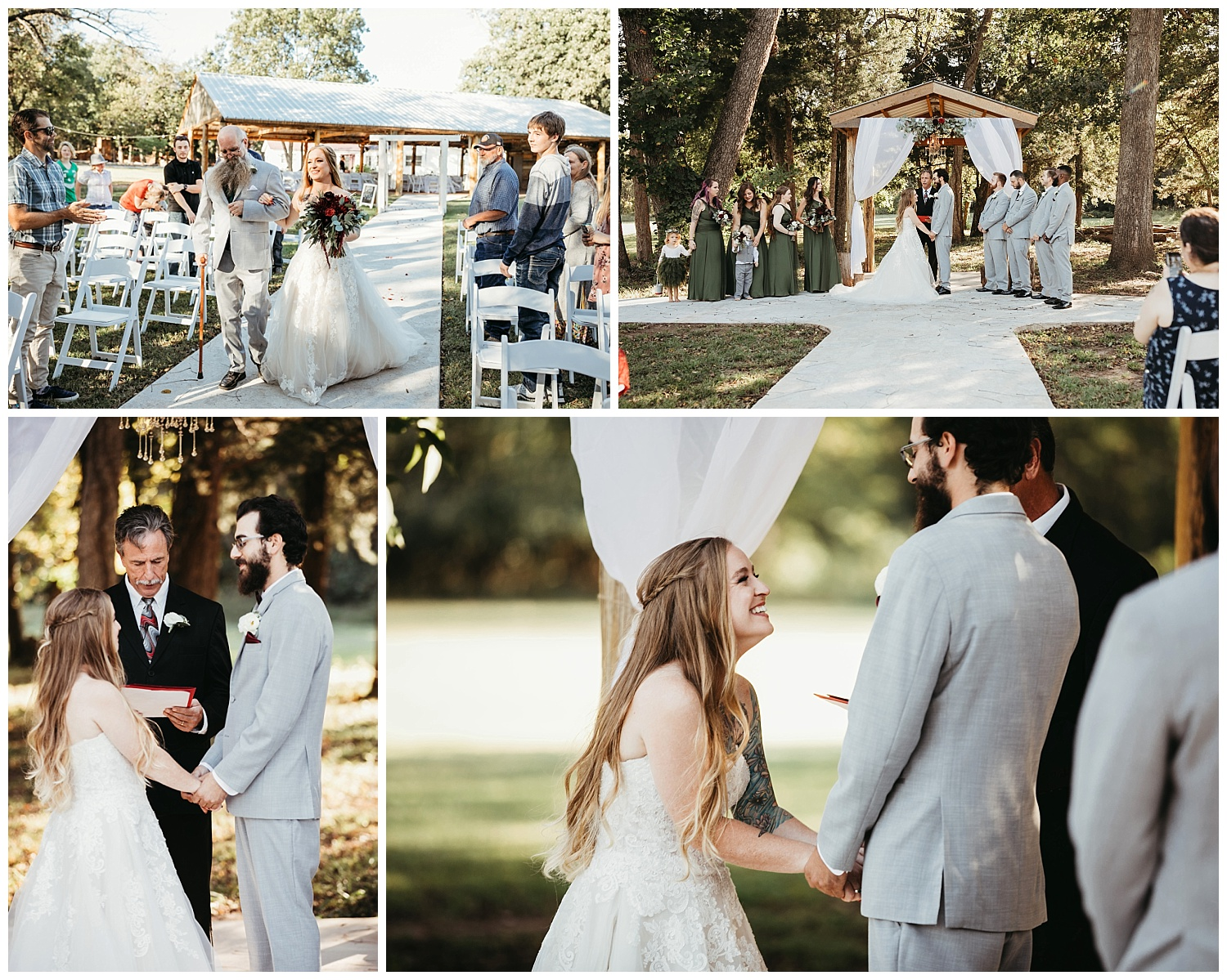 Mikey and Amber Wedding Ceremony at the Ranch of the Saints.