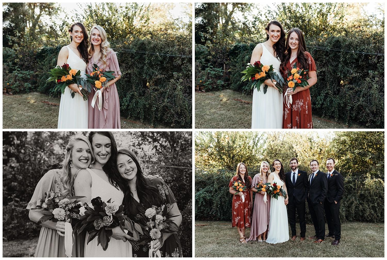 Bridal Party Photos in Edmond, Oklahoma. Backyard wedding.