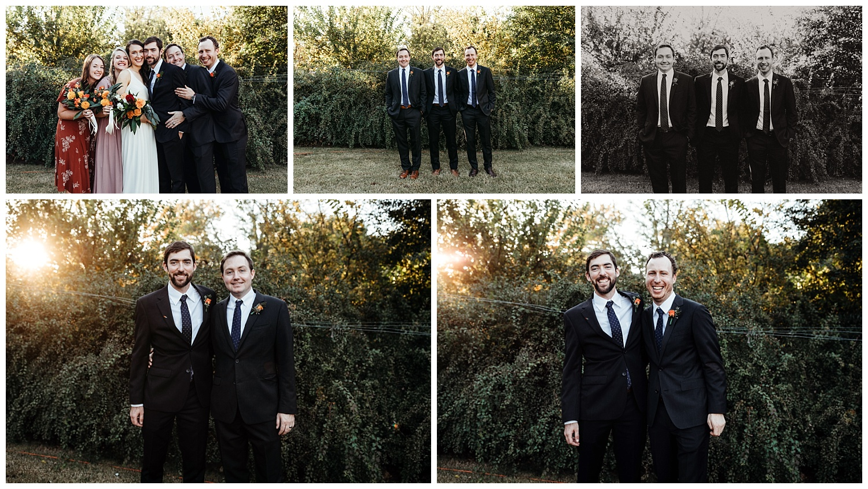 Groomsman Photos, Oklahoma Backyard Wedding.