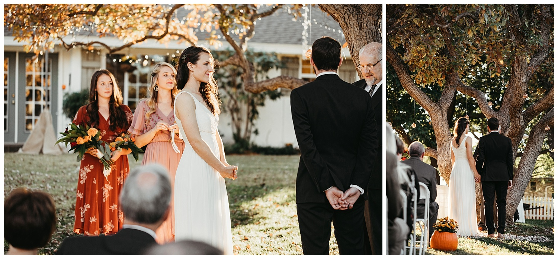 Wedding Ceremony, Backyard wedding. Edmond, Oklahoma.