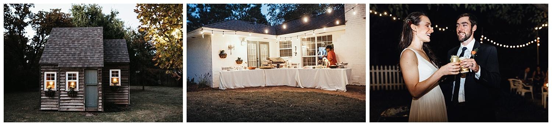 Backyard Wedding Reception, Edmond, Oklahoma.