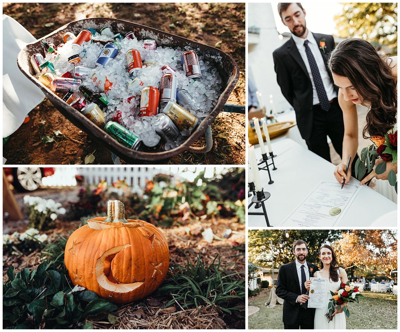 Wedding reception Details, Edmond, Oklahoma.