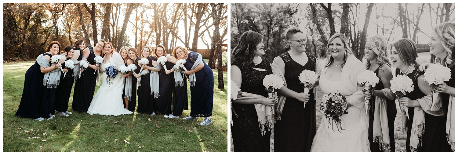 Bridesmaids at The Springs in Blanchard, Oklahoma.