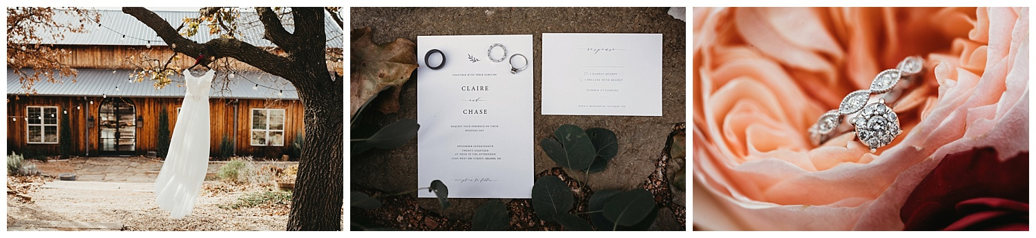 Detail Photos at before Cliare and Chase's wedding.