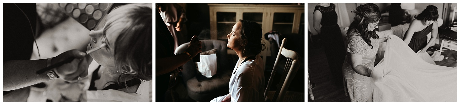 Makeup and details on Cliare's Wedding day.