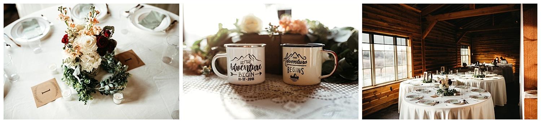 Reception details, cute adventure mug photos.