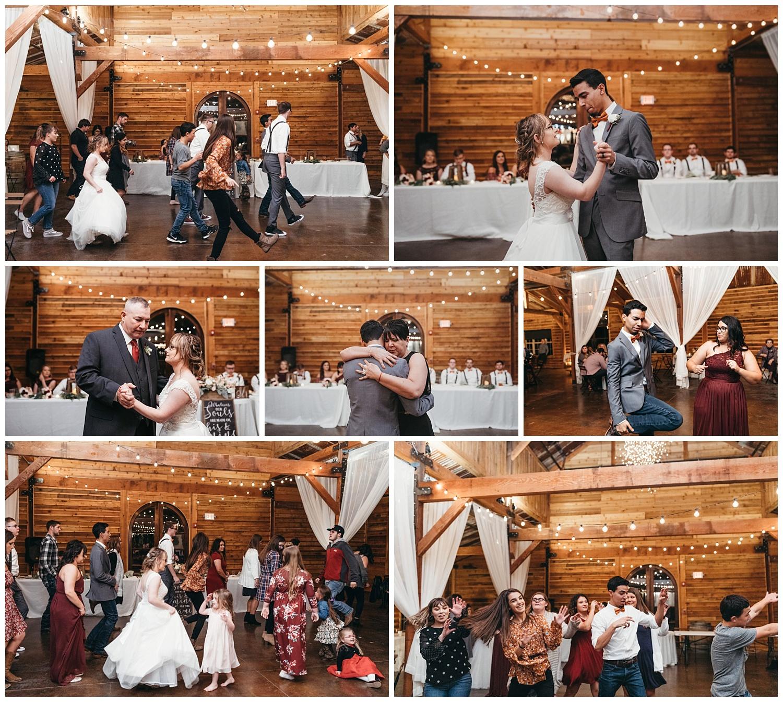Reception dancing photos after wedding.