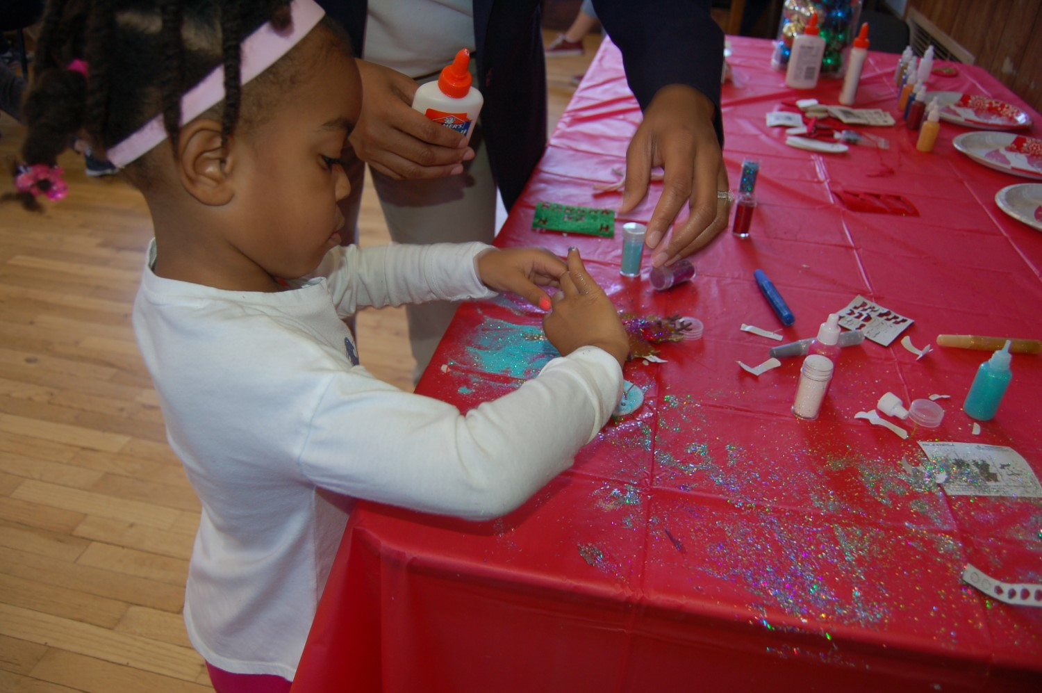 Kids can create their own ornaments.