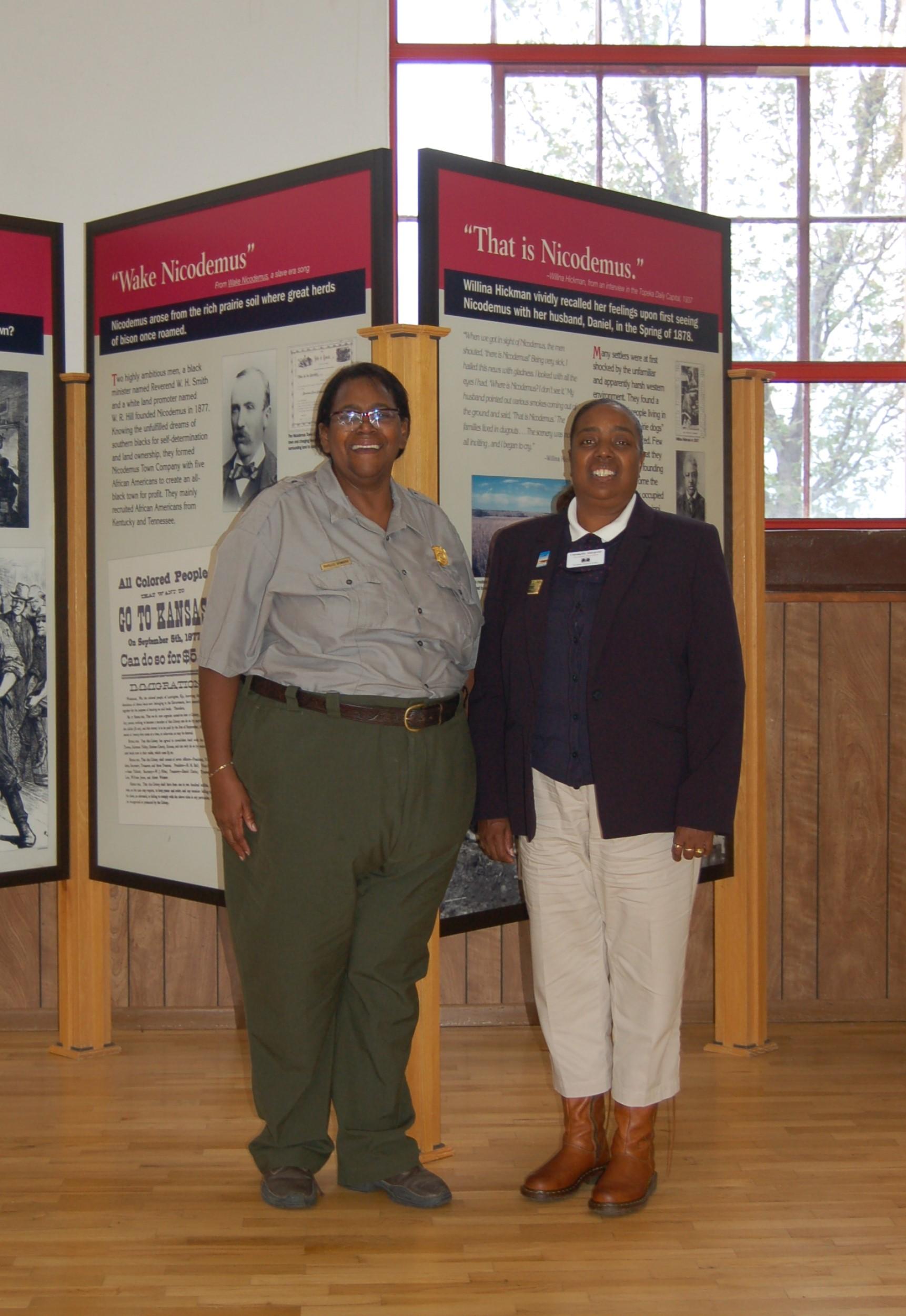 Phyllis Howard and Tina Conway