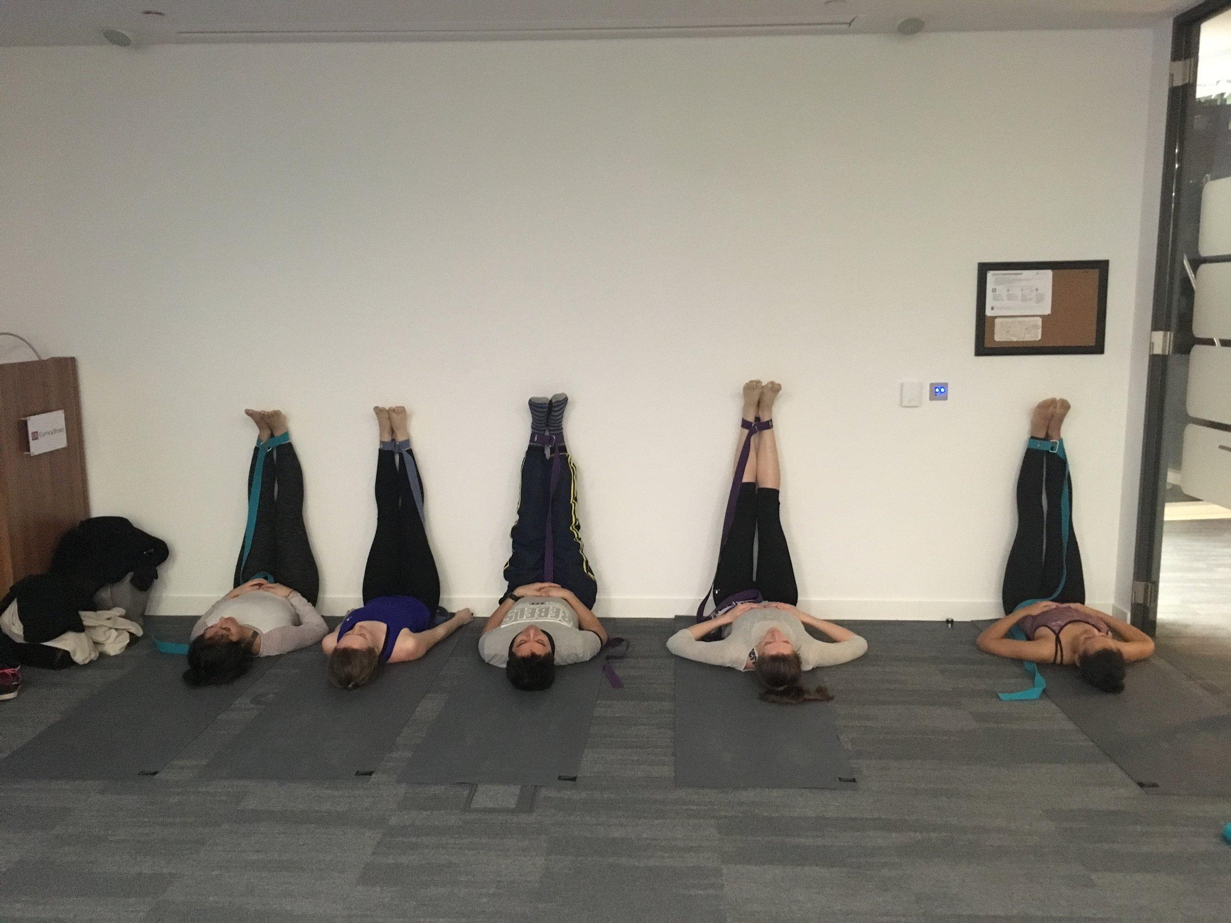 Corporate yoga classes