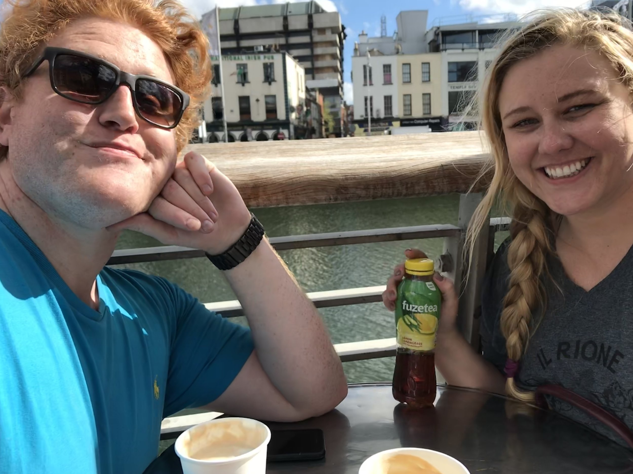 Coffee on the Liffey River