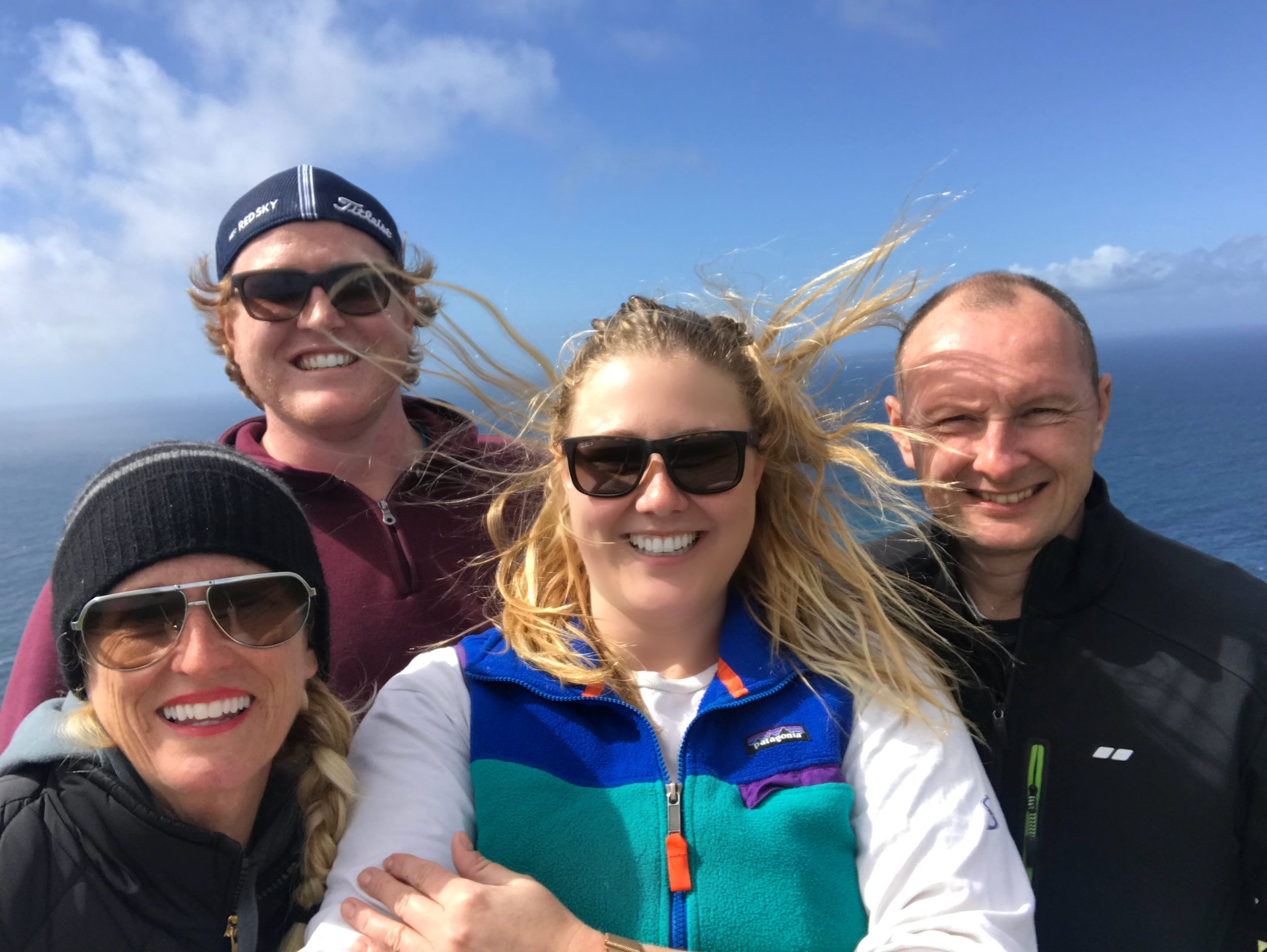 Family pic at the Cliffs of Moher