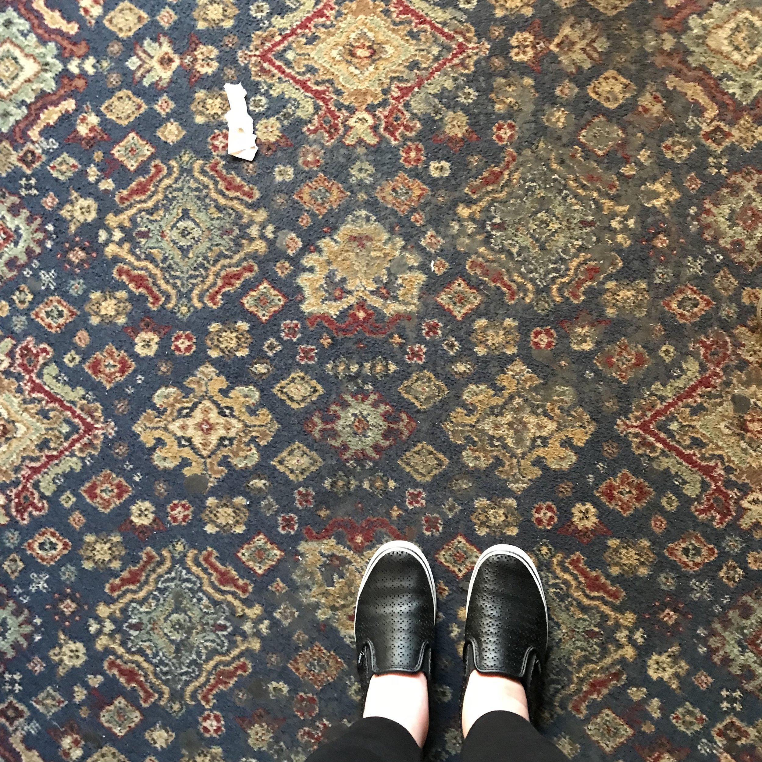Carpet at Grogan's in Dublin
