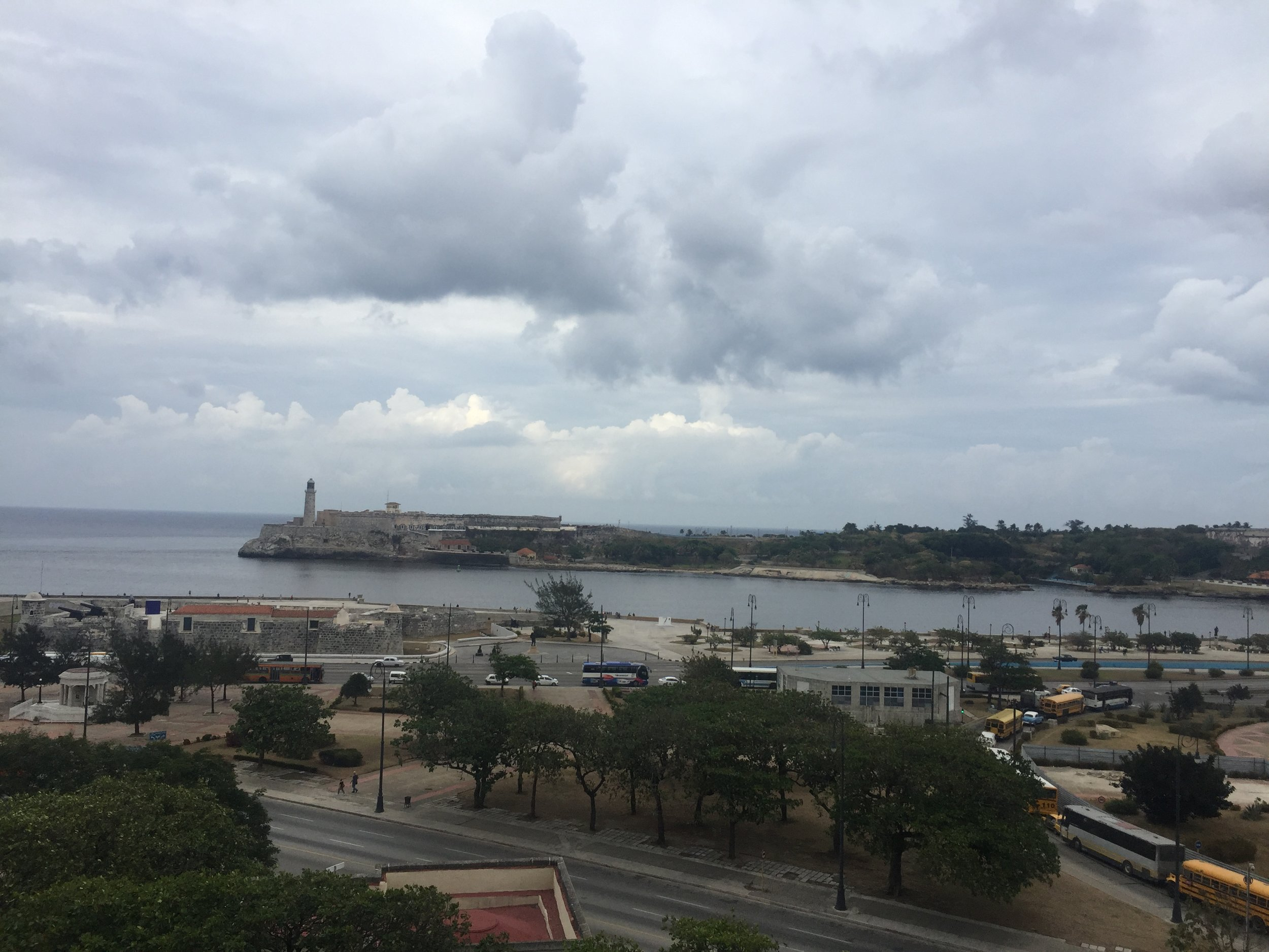 View from the balcony of my airbnb in Old Havana