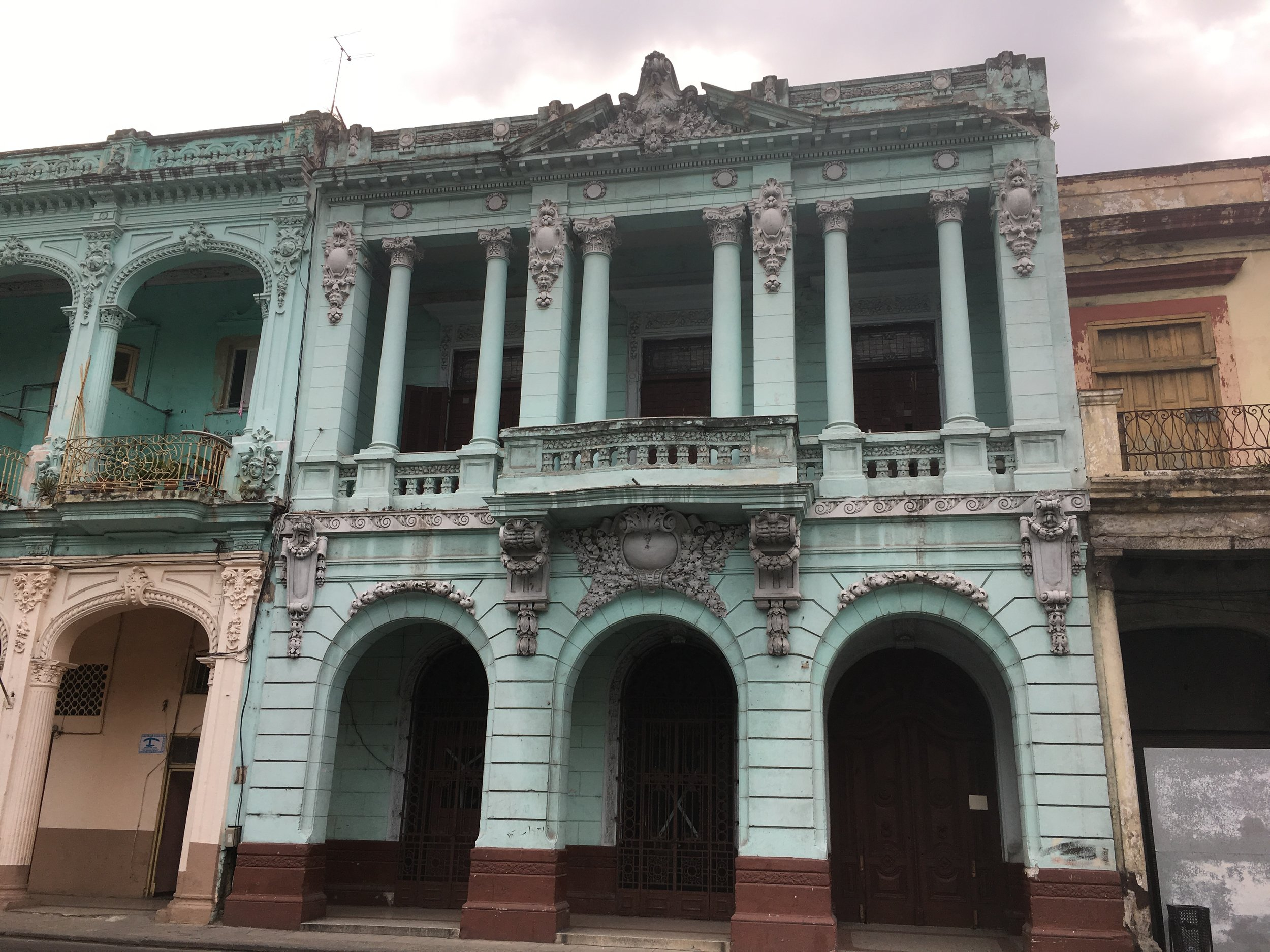 Building on Paseo del Prado, the big street that separates Old Havana and Centro Habana