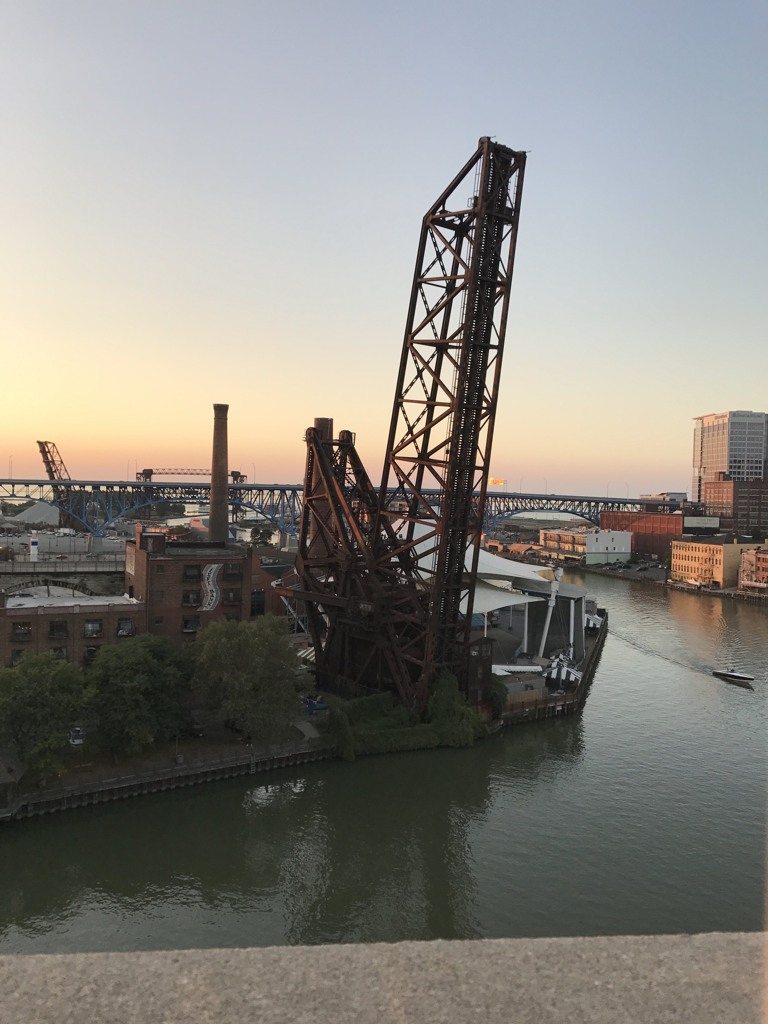 View from Superior Ave Bridge