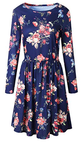 Long sleeve floral dress with pockets.png