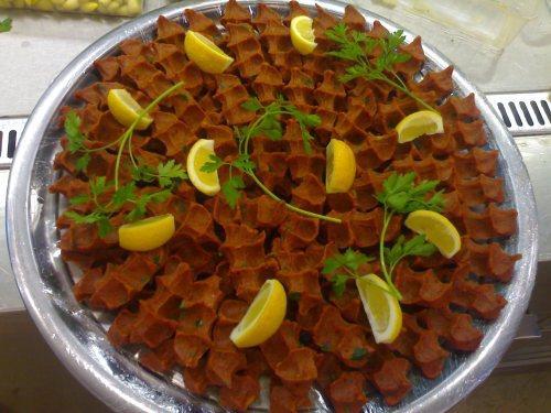 Cig Kofte (made with pork by mistake)