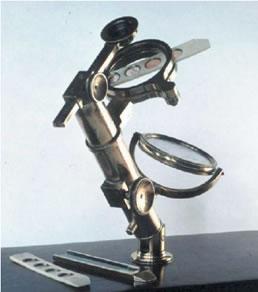 Early 18th century microscope