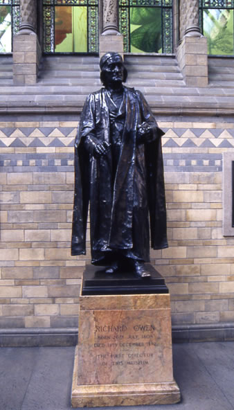 Statue of Sir Richard Owen at the British Museum of Natural History