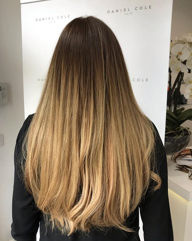 Root stretch and half head balayage with 100 individuals Russian Mongolian extensions. Using @iconsalonproductsuk by Dan #balayagehighlights #essexhairdresser #hairstyles #balayage #vegan