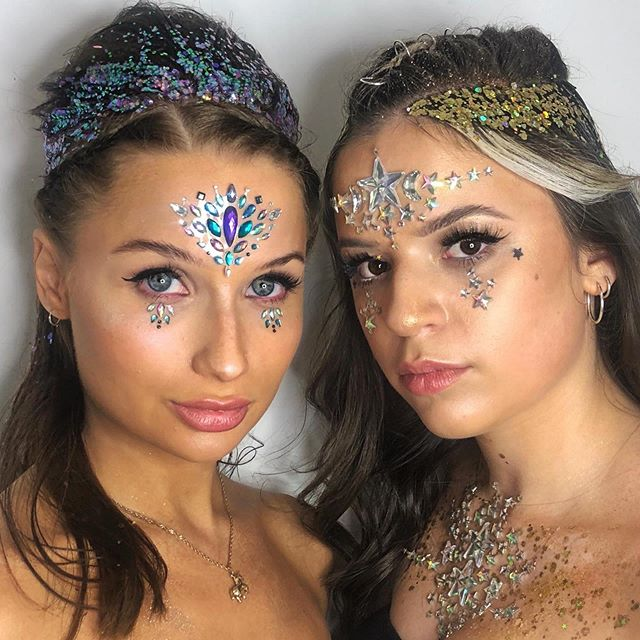 FESTIVAL HAIR and MAKE UP loved doing this look hair by dan and make up by the amazing @ellaflorencemakeup  book in girls for your festivals this summer. 02079986800 #festivalhair #festivalmakeup #mua #makeup #hairup #glitter