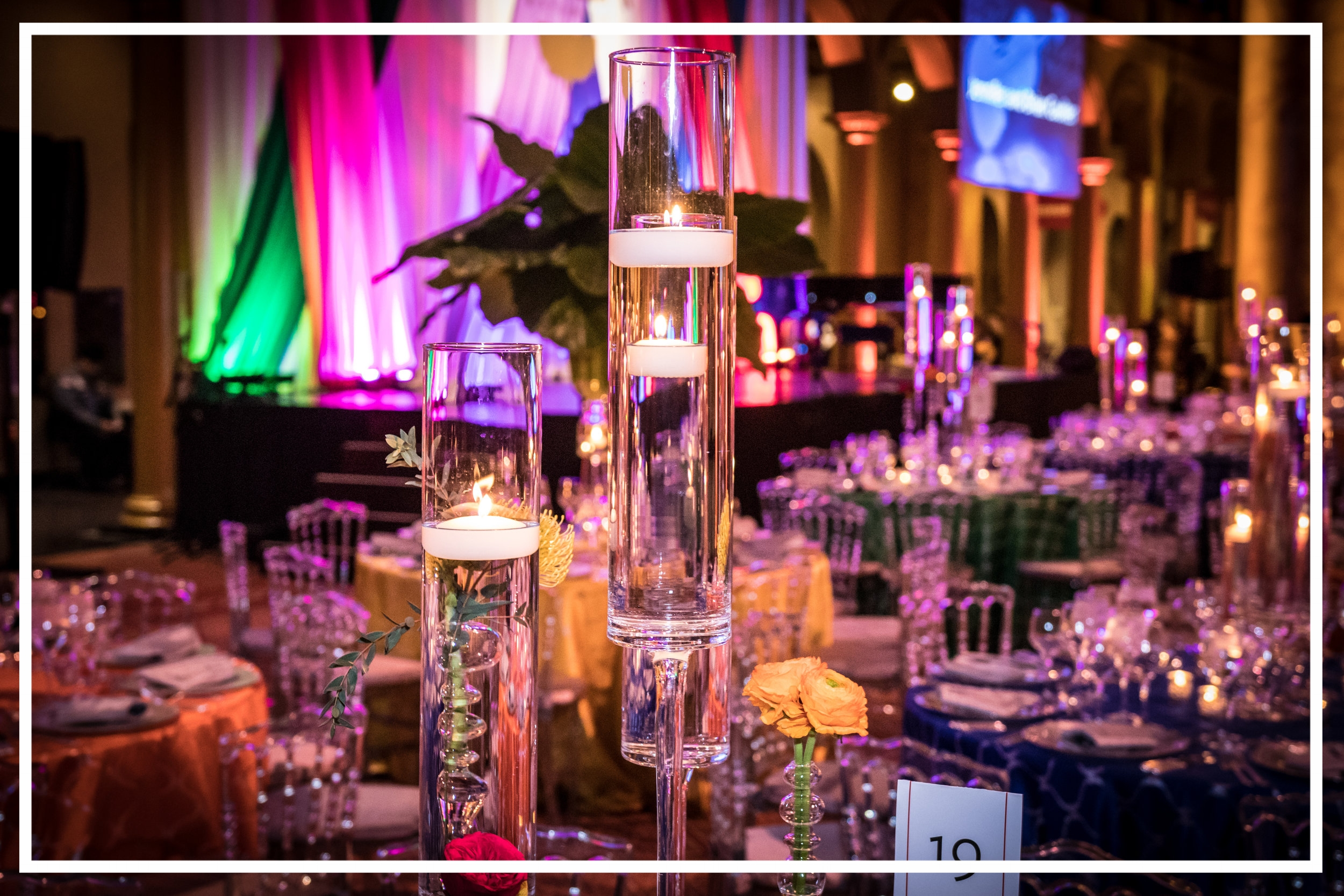 Lovely centerpieces at the Washington Performing Arts Gala by Event Revolution