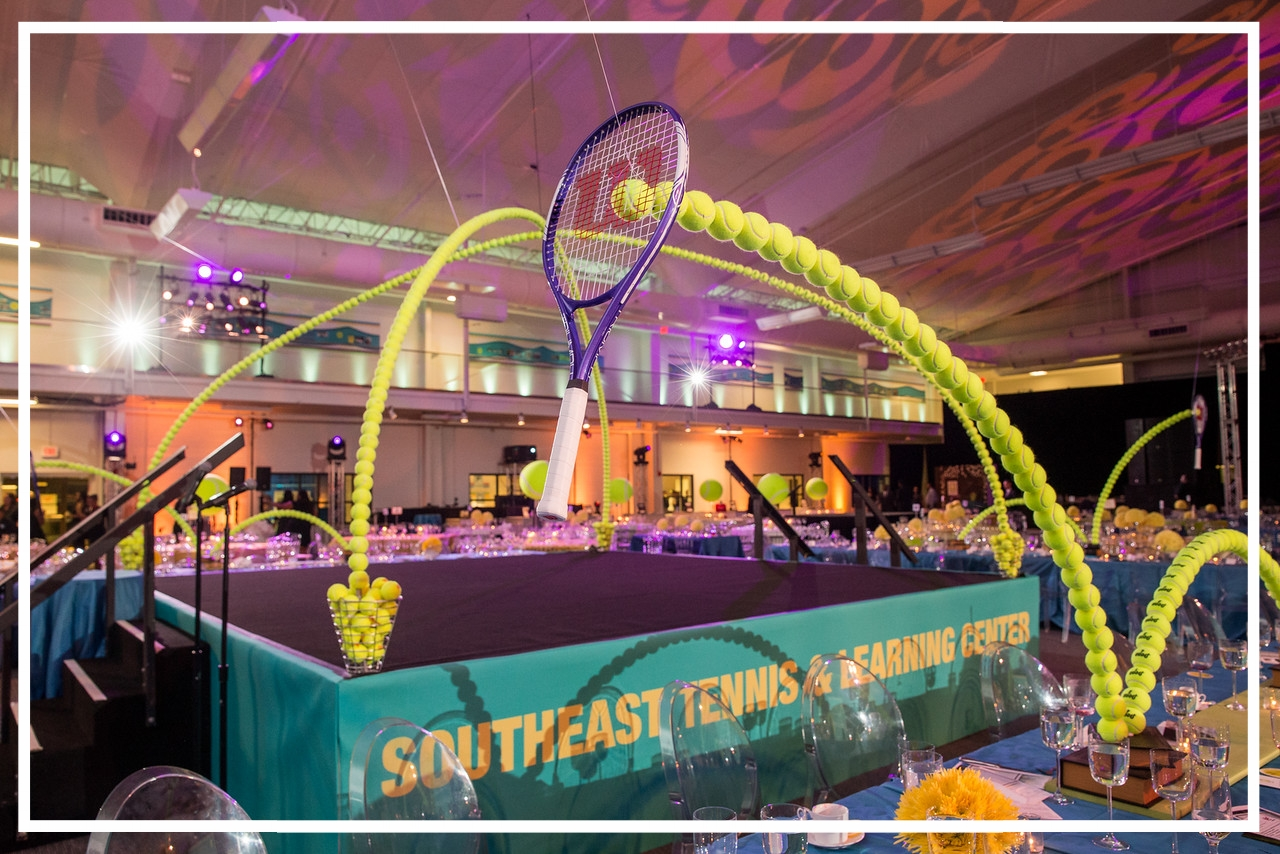 Southeast Tennis and Learning Center Gala with decor from Design Foundry