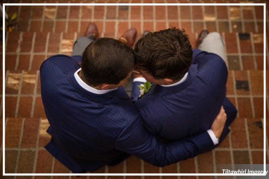 A special moment shared between a wedding couple