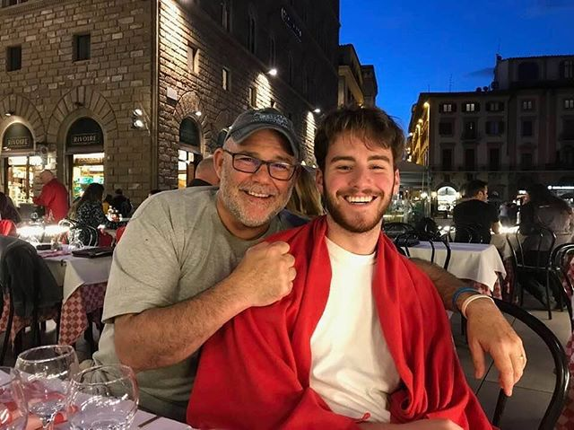 "Happy Father's Day to the guy who went into every café in Italy asking for ""A large cream only"". Thanks for overreacting to sports with me and making me a better man #frank"