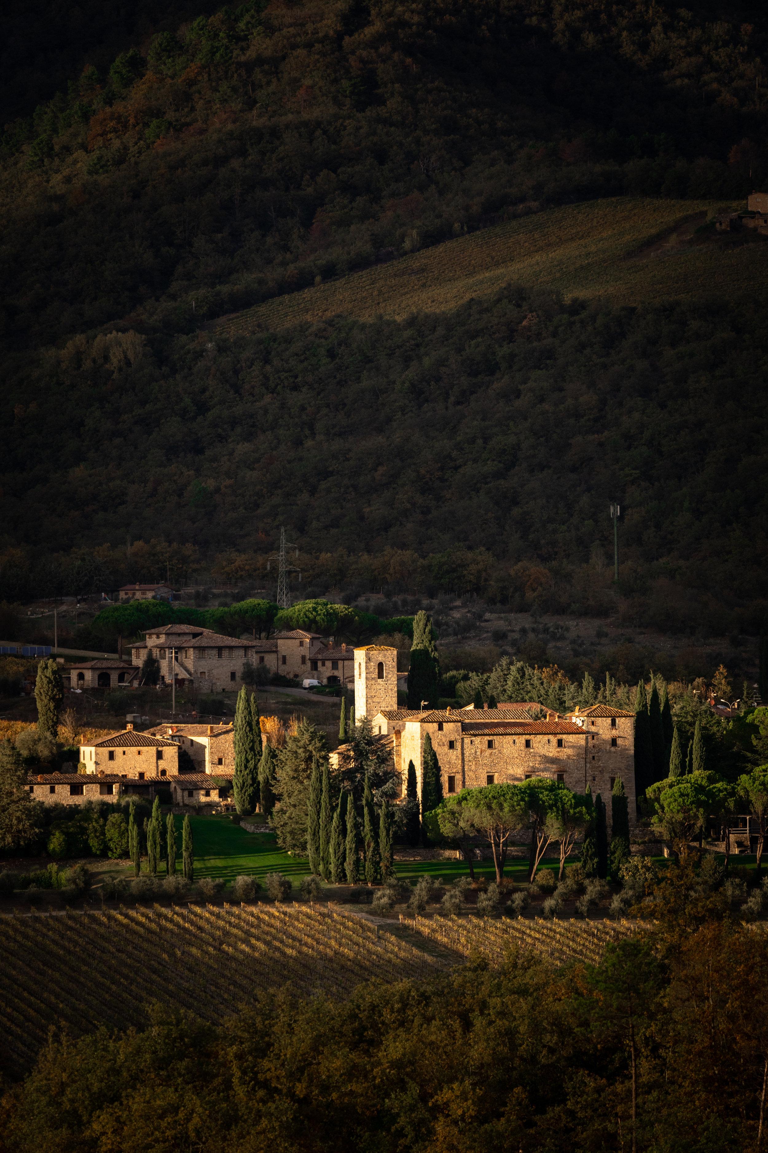 Tuscan countryside vineyards outside Siena