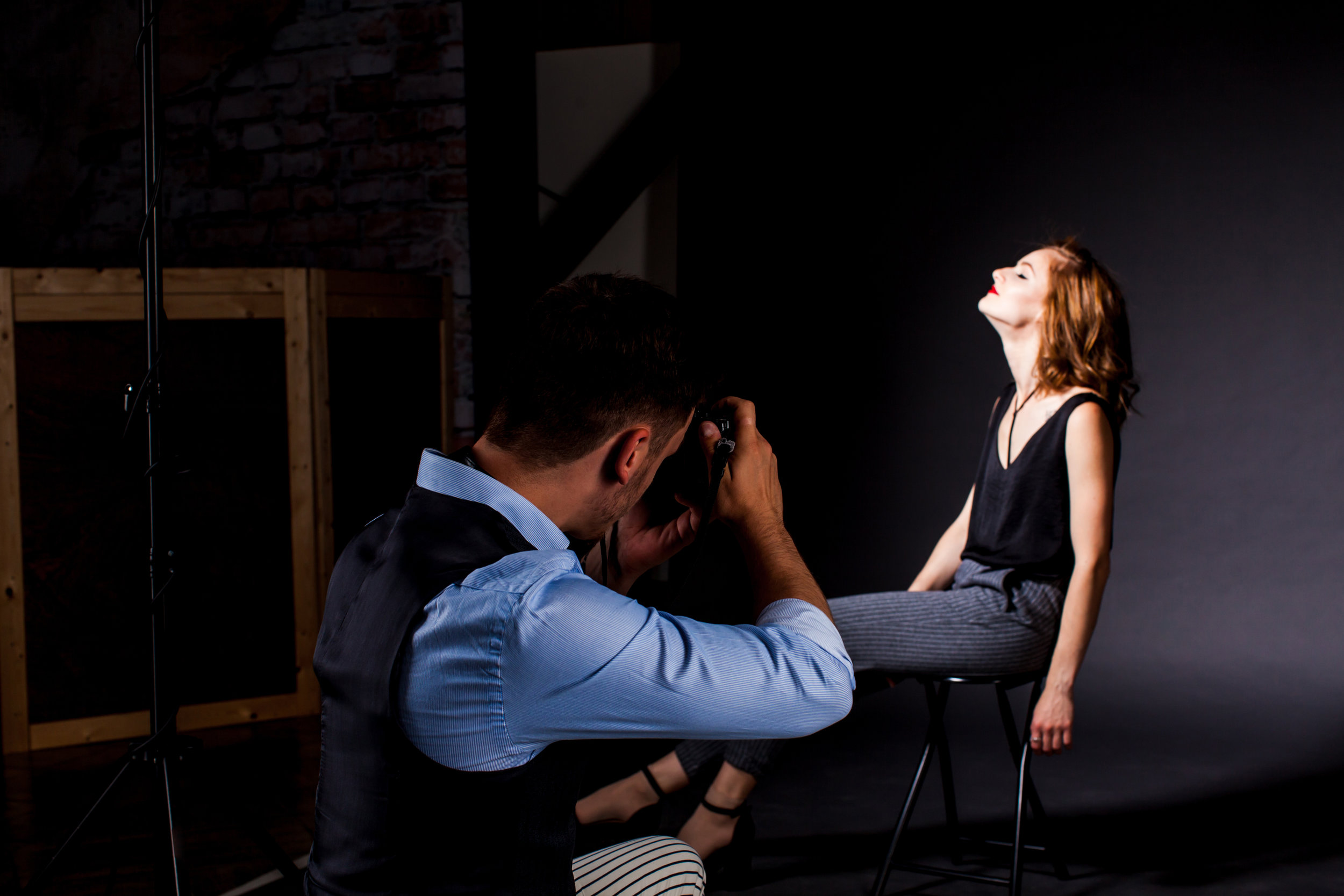 Studio photosession process