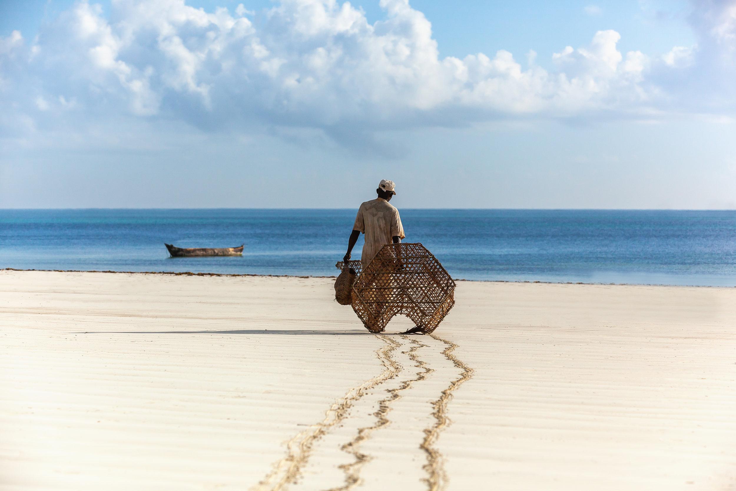 Fisherman in Kenya, water, nature, people, fishing, ocean