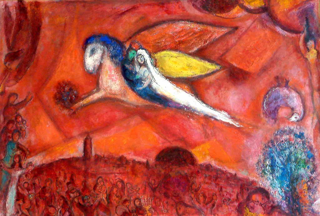 Chagall With Bella his bride – they are flying!