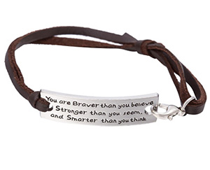 You're Braver Than You Believe Unisex Bangle 8.00