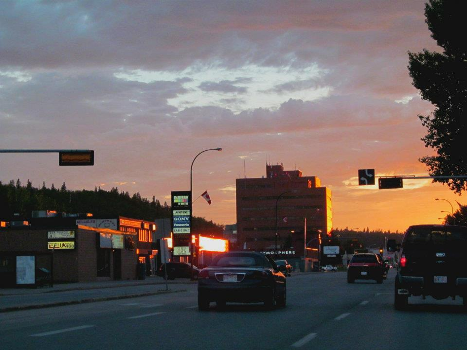 Fort McMurray down town, almost looking beautiful